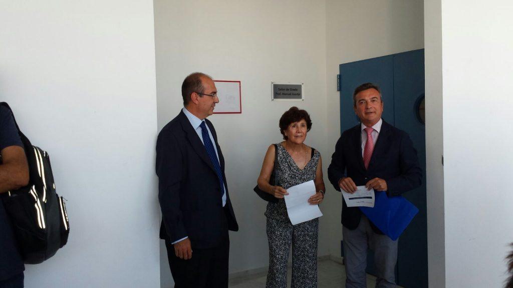 Acto de dedicación el Salón de Grado Derecho al Profesor D. Manuel Asenjo