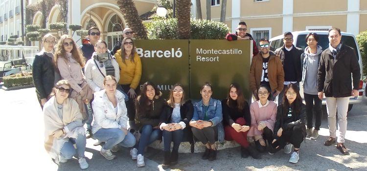 Visita a las instalaciones del Hotel Barceló Montecastillo Golf & Sport Resort de los alumnos del Máster en Dirección Turística