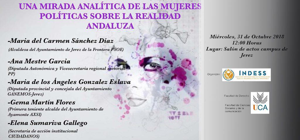 """Jornada """"Una Mirada Analítica de las Mujeres Políticas sobre la realidad andaluza"""""""