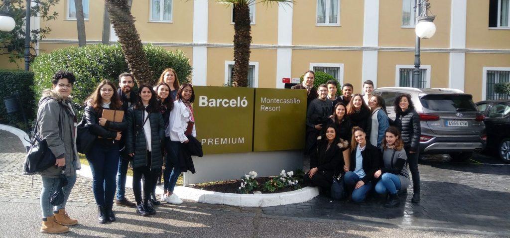 Visita Alumnos del Máster en Dirección Turística al Hotel Barceló Montecastillo