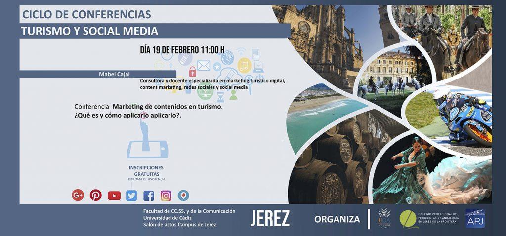"""Ciclo de Conferencias Turismo y Social Media: """"Marketing de contenidos en turismo, ¿qué es y cómo aplicarlo""""– Dña.  Mabel Cajal"""