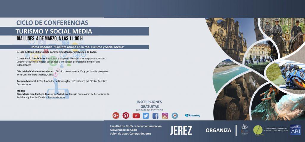 """Ciclo de Conferencias Turismo y Social Media: Mesa Redonda: """"Cádiz te atrapa en la red. Turismo y Social Media"""""""