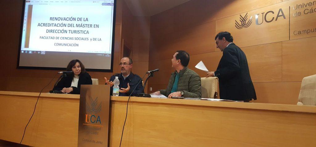 Presentación de los Autoinformes para la Renovación de la Acreditación del Máster en Dirección Turística y del Máster en Gestión y Administración Pública